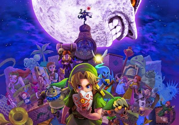 Legend of Zelda Majora's Mask 2000 video game artwork