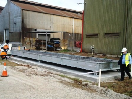 Shipping container weighing scales for metal manufacturer in victoria