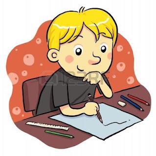 Dibujos de Niños Estudiando