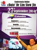 DXN Colombia's Online Conference with Dato' Dr. Lim Siow Jin on 27 Sept 2014