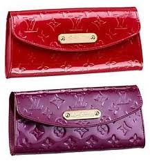 shining leather clutch