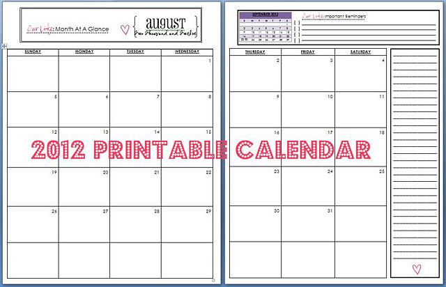 Calendar Binder Printables : His plan not ours home management binder printables