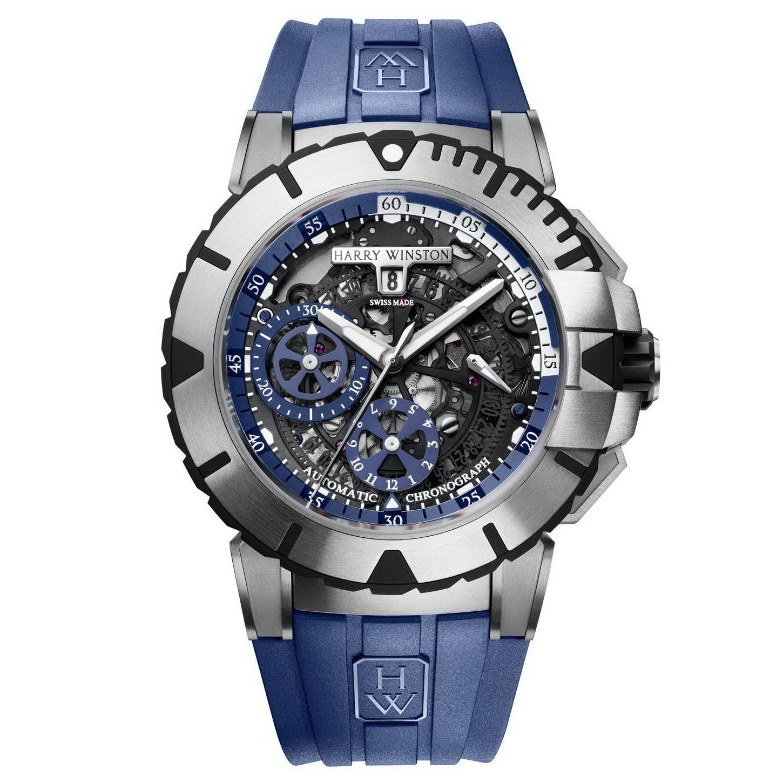 Oceanictime harry winston ocean sport chronograph blue - Oceanic dive watch ...