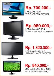 Harga monitor LED dan LCD
