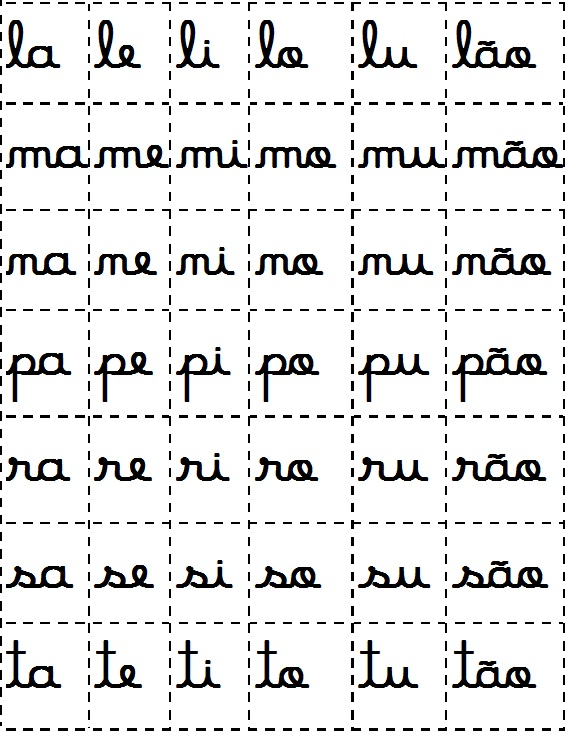 Favoritos silabas moveis letra cursiva ND97