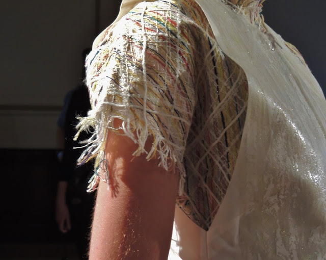 Close-up of weaving technique seen in S/S14 collection