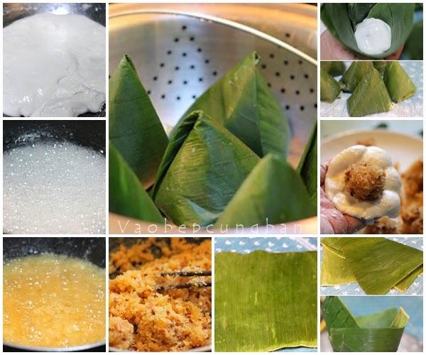 Cách làm bánh ít nhân dừa thơm 1