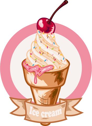 helados en formato vectorial
