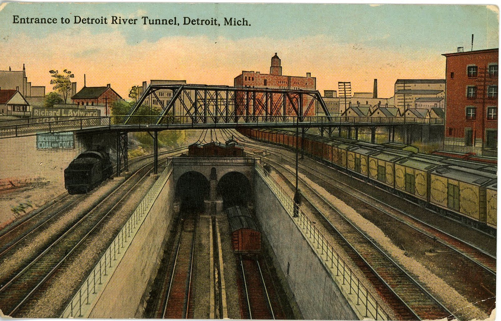 New Motors Erie Pa >> The National Railroad Postcard Museum: The Detroit River Tunnel