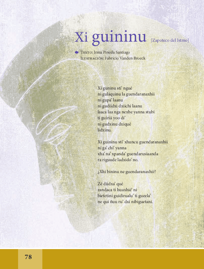 Xi guininu / Qué decir - Español Lecturas 6to 2014-2015