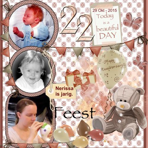 Oct.29-2015 –  Gefeliciteerd met je 22e verjaardag Nerissa
