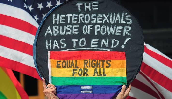 O casamento entre pessoas do mesmo sexo nos Estados Unidos é legal em nove dos 50 Estados e na capital, Washington (Foto: Emmanuel Dunand/AFP)