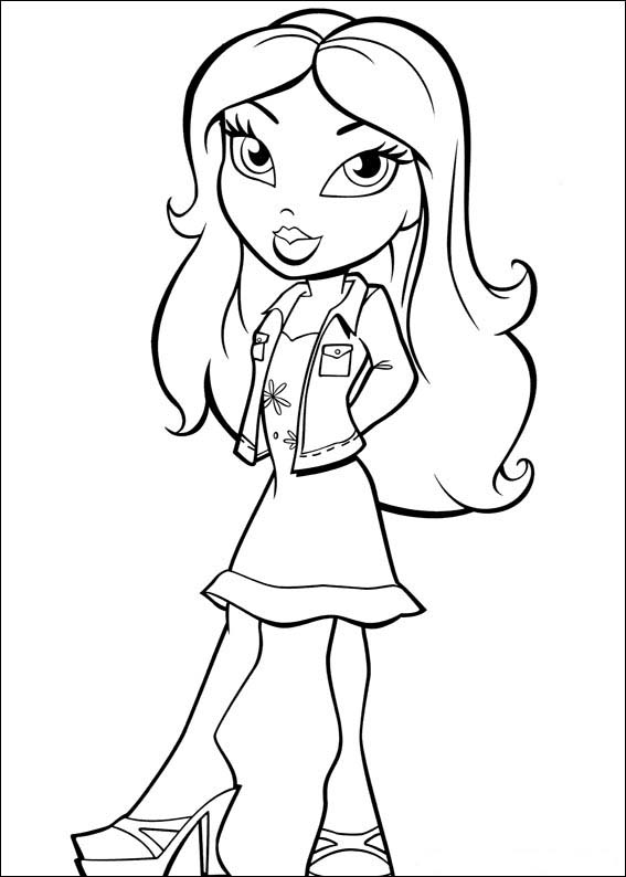 Print And Coloring Pages Bratz