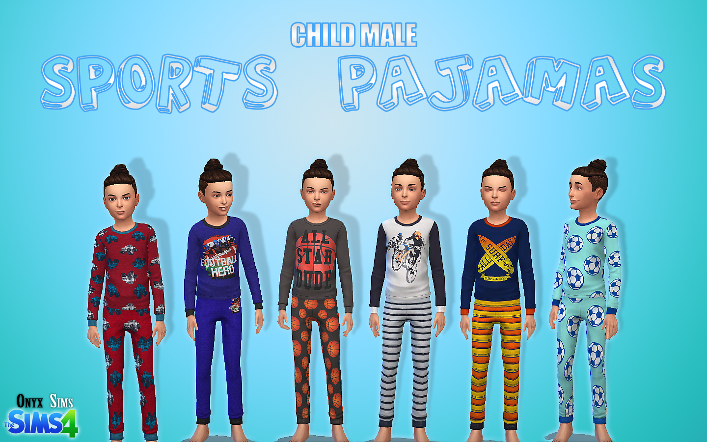 Child pajamas pack no 1 onyx sims