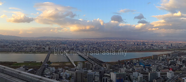 Panoramic view of Osaka City