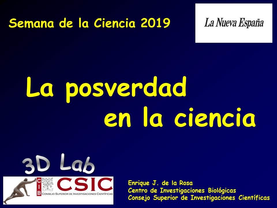 """Charla en la Semana de la Ciencia de """"La Nueva España"""" - Oviedo"""