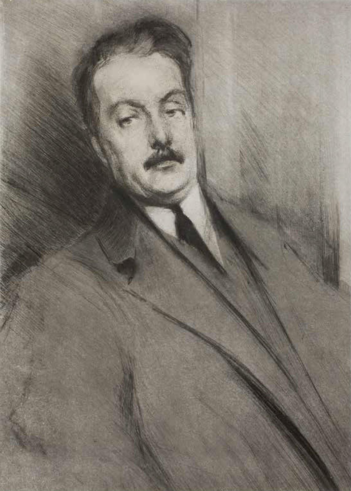 Lino Selvatico Ritrato di Giacomo Puccini