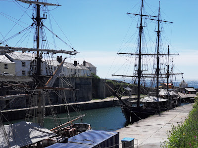Tall Ships at Charlestown, Cornwall