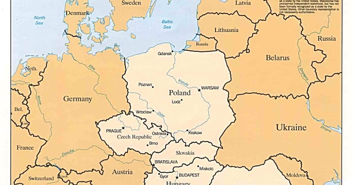 Online Maps Eastern Europe Map