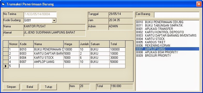 Download Aplikasi Inventory Dengan VB 6.0