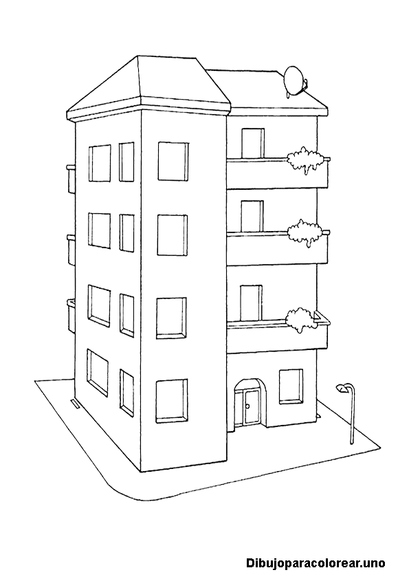 Dibujo De Edificio Para Colorear - Ultra Coloring Pages Edificio ...