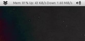 Comment Faire Pour Afficher La Vitesse De Connexion Sur le panneau de Ubuntu 11.04