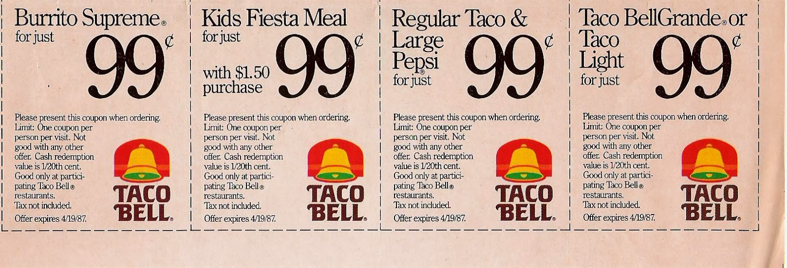 photo relating to Taco Bell Printable Coupons known as Taco bell discount coupons 2018 printable - Easiest suv rent specials 2018