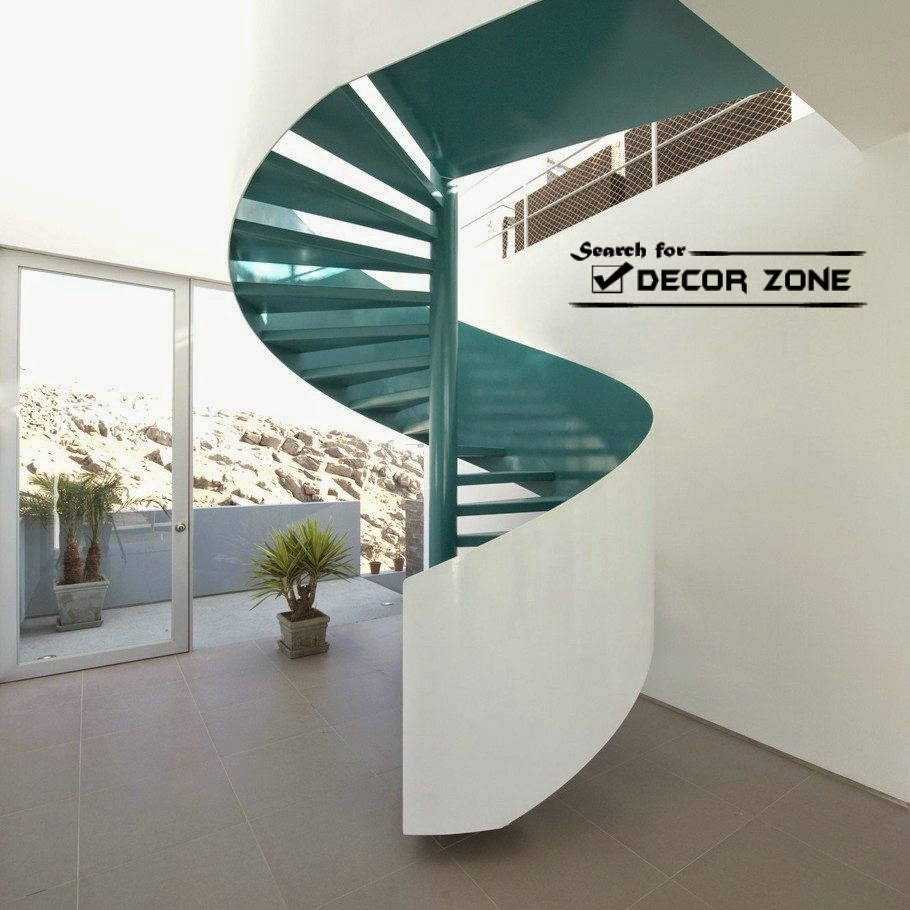 15 modern staircase designs and tips from experts for Spiral stair design