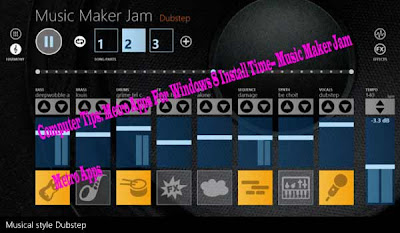 Computer Tips: Metro Apps For  Windows 8 Install Time-- Music Maker Jam Metro Apps