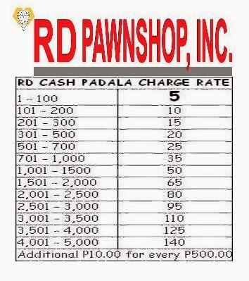 RD Pawnshop cash padala