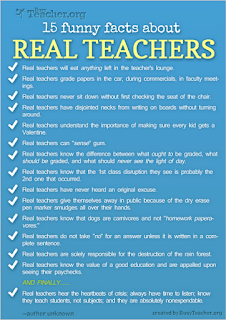 Confessions of a Teaching Junkie: Funny Facts About Real Teachers