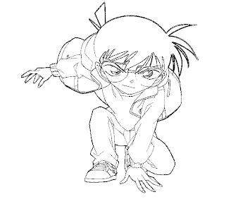 #3 Detective Conan Coloring Page