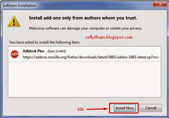 Cara Instal Adblock di Mozila Firefox dan Google Chrome