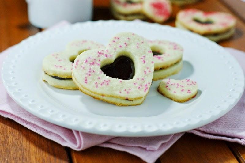 Valentine Raspberry Sandwich Cookies