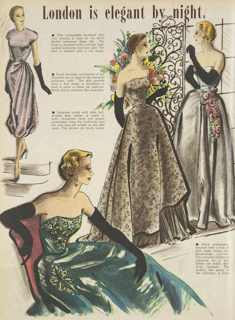 London fashion for evening, 1951