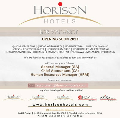 Horison Hotels Vacancy