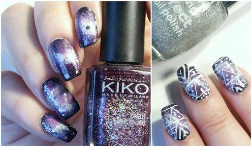 Aztec Galaxy Nail Art