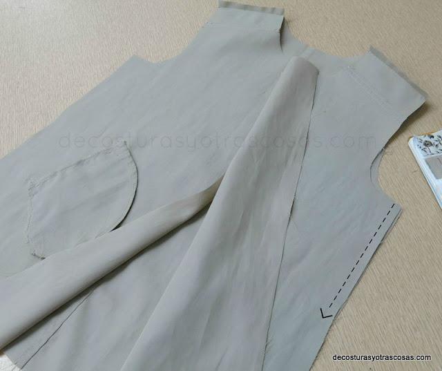 como coser una gabardina para niña