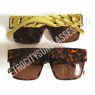 Tortoise Brown Chain Sunglasses