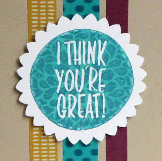 Stampin' Up! I Think You're Great VIDEO Tutorial for Kissing technique & Starburst Punch Tip #stampinup www.juliedavison.com