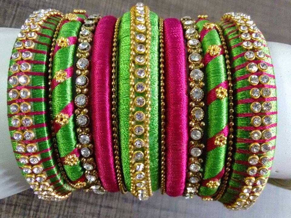 15 Latest Collection of Silk Thread Bangles in India 2017 : 110025948787510288437347519930542896862475n from stylesatlife.com size 960 x 720 jpeg 162kB