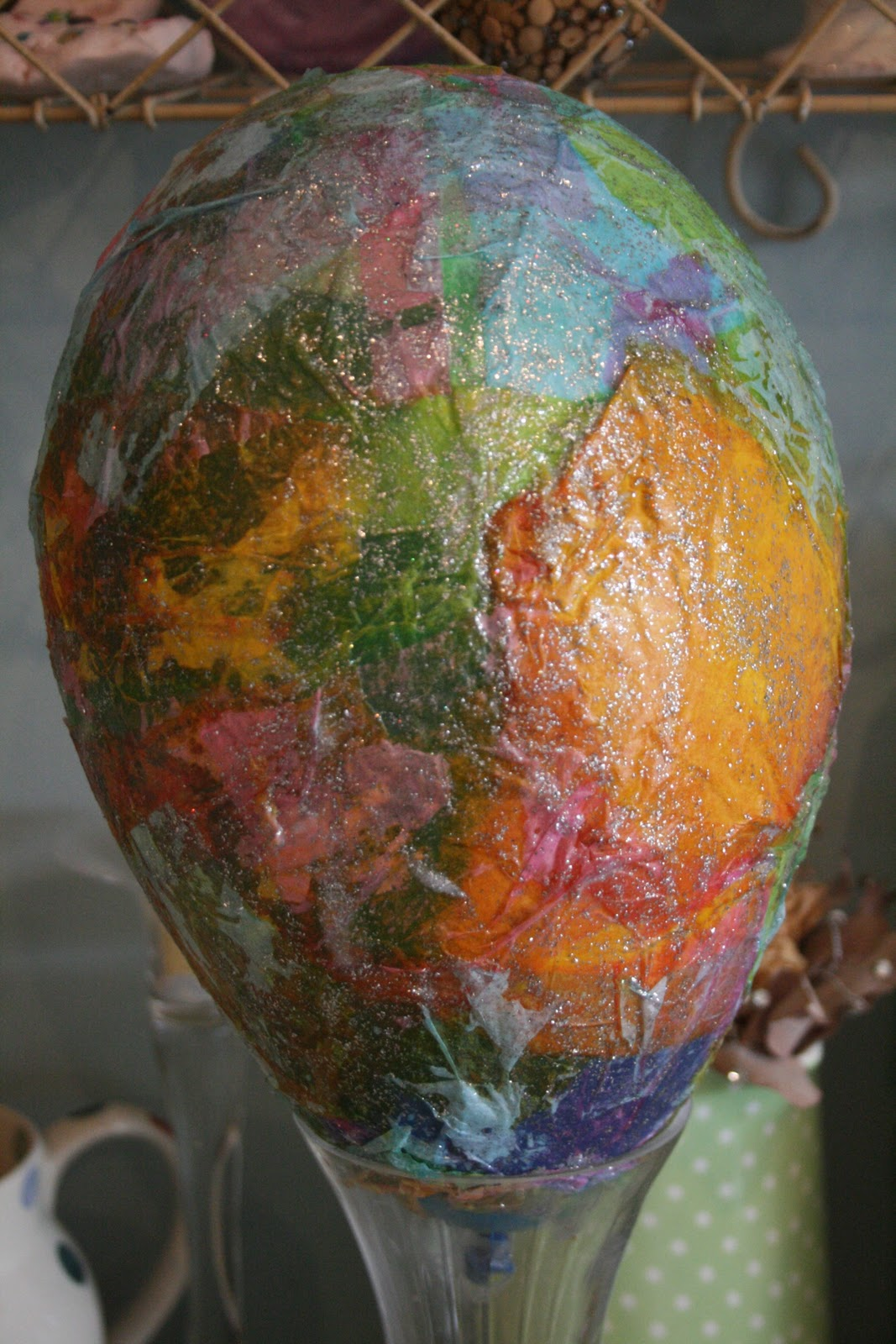 paper mache easter egg the imagination tree. Black Bedroom Furniture Sets. Home Design Ideas
