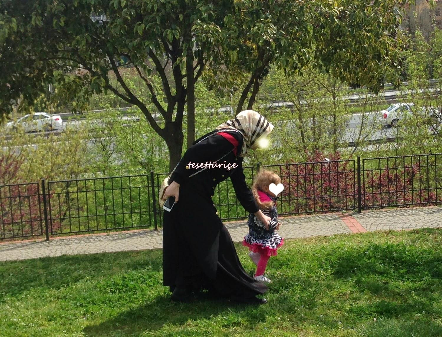 pınar şems verev etekli ferace kombinim
