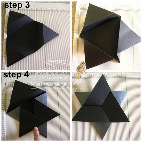Triangle star card step by step 3-4