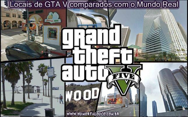 Locais de GTA V em comparação com o Mundo Real