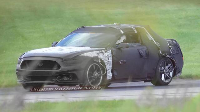 2015 Ford Mustang Goes Face First