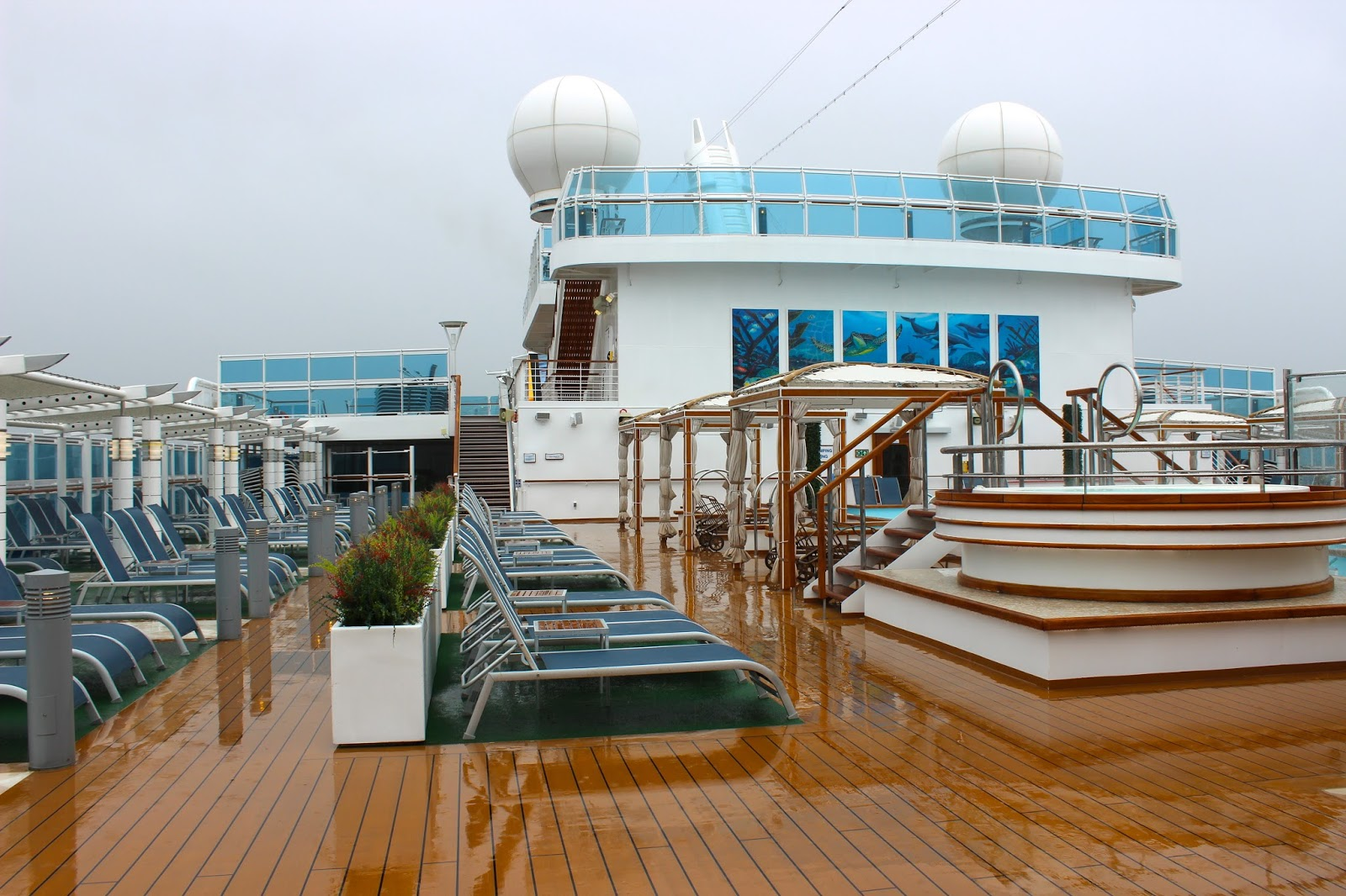 The Royal Princess Cruise Ship - Upper Deck