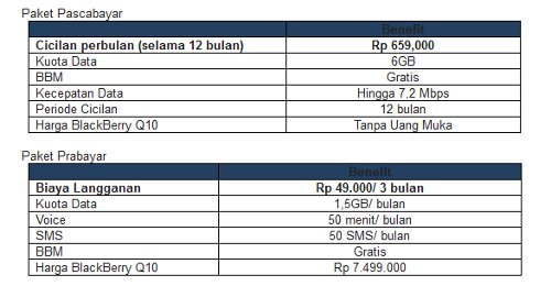 Harga Bundling Blackberry Q10 XL