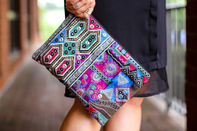free people boho chic clutch