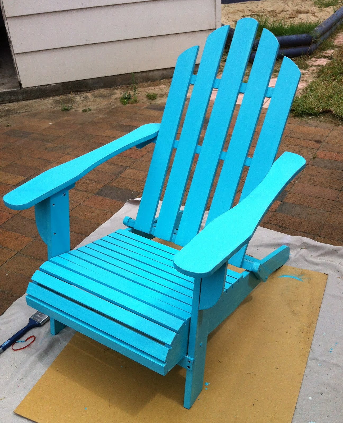 Wooden Beach Chair Makeover! - Giggleberry Creations!: Wooden Beach Chair Makeover!